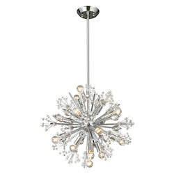 ELK Lighting Starburst Collection 15 Light Chandelier In Polished Chrome