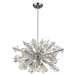 ELK Lighting Starburst Collection 19 Light Chandelier In Polished Chrome