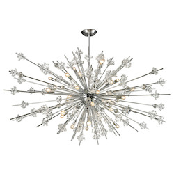 ELK Lighting Starburst Collection 31 Light Chandelier In Polished Chrome