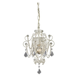 ELK Lighting Elise 1-Light Mini-Chandelier In Antique White