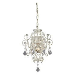ELK Lighting One Light Antique White Up Chandelier