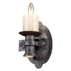 ELK Lighting Two Light Moonlit Rust Bathroom Sconce