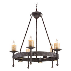 ELK Lighting Ten Light Moonlit Rust Up Chandelier