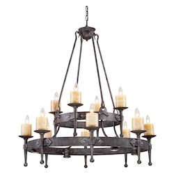 ELK Lighting Sixteen Light Moonlit Rust Up Chandelier