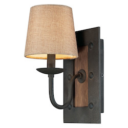 ELK Lighting One Light Vintage Rust Wall Light
