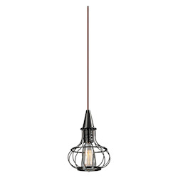 ELK Lighting Yardley Collection 1 Light Mini Pendant In Oil Rubbed Bronze