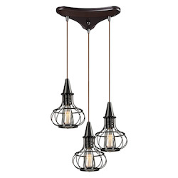 ELK Lighting Yardley Collection 3 Light Chandelier In Oil Rubbed Bronze