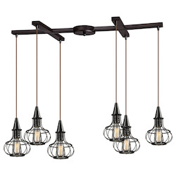 ELK Lighting Yardley Collection 6 Light Chandelier In Oil Rubbed Bronze