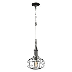 ELK Lighting Yardley Collection 1 Light Pendant In Oil Rubbed Bronze
