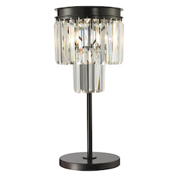 ELK Lighting Palacial Collection 1 Light Table Lamp In Oil Rubbed Bronze