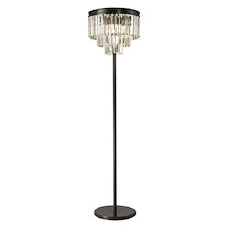 ELK Lighting Palacial Collection 3 Light Floor Lamp In Oil Rubbed Bronze