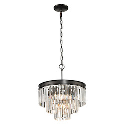 ELK Lighting Palacial Collection 3+1 Light Pendant In Oil Rubbed Bronze