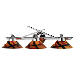 ELK Lighting Three Light Polished Chrome Jasper Glass Vanity