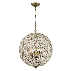 ELK Lighting Elizabethan (Existing) Collection 8 Light Pendant In Dark Bronze