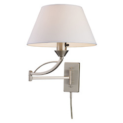 ELK Lighting One Light Satin Nickel Wall Light