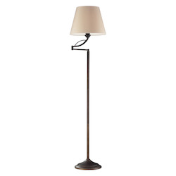 ELK Lighting 1- Light Floor Lamp In Aged Bronze