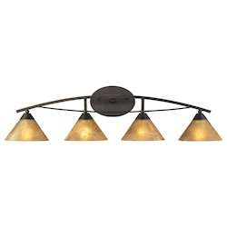ELK Lighting Four Light Aged Bronze Vanity
