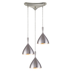 ELK Lighting Three Light Aluminum Multi Light Pendant