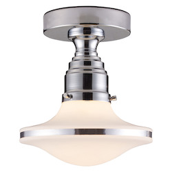 ELK Lighting One Light Polished Chrome Bowl Semi-Flush Mount