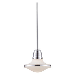 ELK Lighting One Light Led Polished Chrome Down Mini Pendant