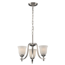 ELK Lighting Three Light Brushed Nickel Up Chandelier
