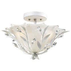 ELK Lighting Two Light Antique White Bowl Semi-Flush Mount