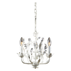 ELK Lighting Three Light Antique White Up Chandelier