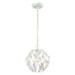 ELK Lighting Circeo Collection 1 Light Mini Pendant In Antique White