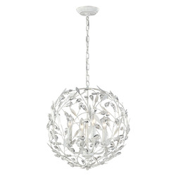 ELK Lighting Circeo Collection 4 Light Pendant In Antique White