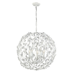 ELK Lighting Circeo Collection 5 Light Pendant In Antique White