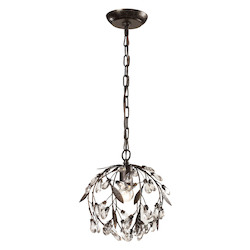 ELK Lighting Circeo Collection 1 Light Mini Pendant In Deep Rust