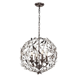 ELK Lighting Circeo Collection 4 Light Pendant In Deep Rust