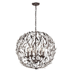 ELK Lighting Circeo Collection 5 Light Pendant In Deep Rust
