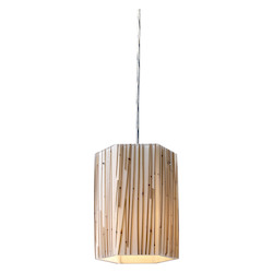 ELK Lighting One Light Polished Chrome Drum Shade Pendant