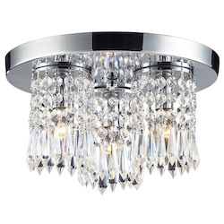 ELK Lighting 3-Light Flush Mount In Polished Chrome