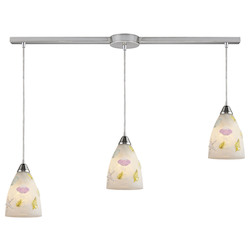 ELK Lighting Three Light Nickel Multi Light Pendant