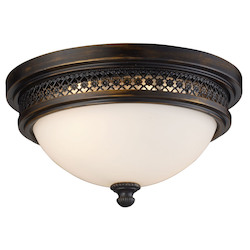 ELK Lighting Two Light Deep Rust Bowl Flush Mount