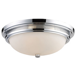 ELK Lighting Three Light Polished Chrome Bowl Flush Mount