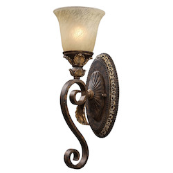 ELK Lighting One Light Burnt Bronze Wall Light