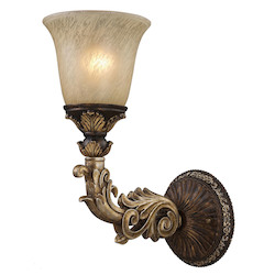 ELK Lighting One Light Burnt Bronze Bathroom Sconce