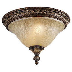 ELK Lighting Two Light Burnt Bronze Bowl Flush Mount