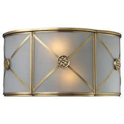 ELK Lighting Two Light Brushed Brass Wall Light