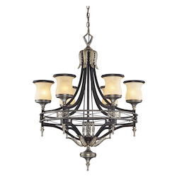 ELK Lighting Six Light Antique Bronze & Dark Umber Dark Umber And Marblized Amber G