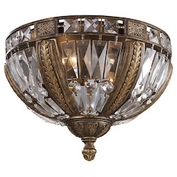 ELK Lighting Four Light Antique Bronze Bowl Flush Mount