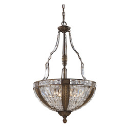 ELK Lighting Six Light Antique Bronze Up Pendant