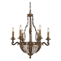ELK Lighting Ten Light Antique Bronze Up Chandelier