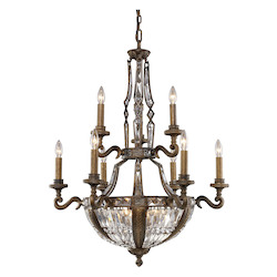 ELK Lighting Fifteen Light Antique Bronze Up Chandelier