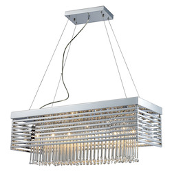 ELK Lighting Twelve Light Polished Chrome Down Chandelier