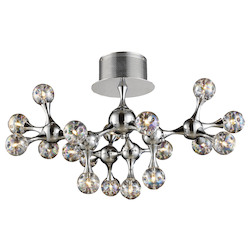 ELK Lighting Molecular 18-Light Semi Flush Mount With Rainbow Glass