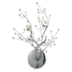 ELK Lighting Three Light Polished Chrome Wall Light